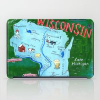 wisconsin iPad Cases featuring WISCONSIN by Christiane Engel