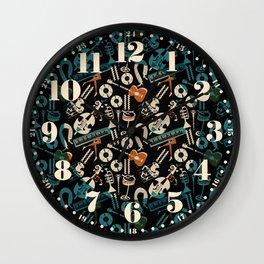 Jazz Rhythm (black) Wall Clock