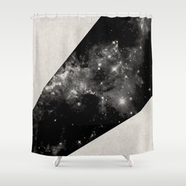 Expanding Universe - Abstract, black and white space themed design Shower Curtain