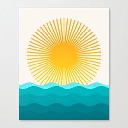 Sun and Sea Canvas Print