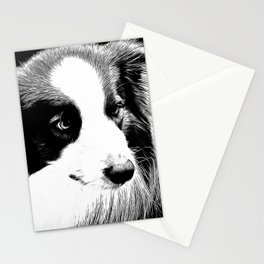 border collie dog 4 vabw Stationery Cards