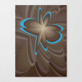 Wood flower 1 Canvas Print