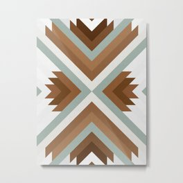 Geometric Art with Bands 01 Metal Print