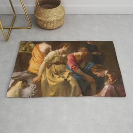 Johannes Vermeer - Diana and Her Companions Rug