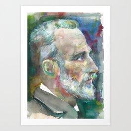 PIERRE CURIE - watercolor portrait Art Print