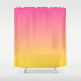 Pink and Yellow Ombre Print Shower Curtain