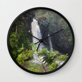 Waterfall on the road to Hana (vertical) Wall Clock