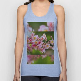 Aesculus red chestnut tree blossoms Unisex Tank Top