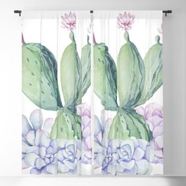In Love Rose Cactus + Succulents Blackout Curtain
