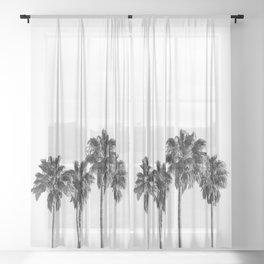 Palm trees 3 Sheer Curtain
