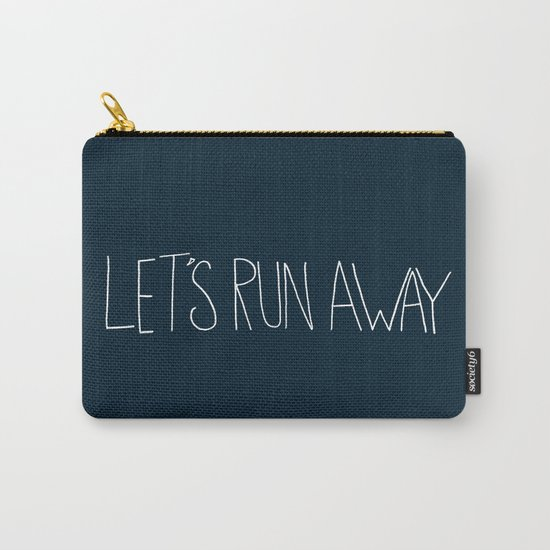 Let's Run Away: Cannon Beach, Oregon Carry-All Pouch