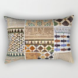 Mathematics and the Alhambra. Wall details. The Alhambra Palace. Six Rectangular Pillow