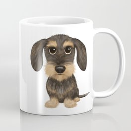 Wirehaired Dachshund | Cute Wire Haired Wiener Dog | Wild Boar and Tan Teckel Coffee Mug