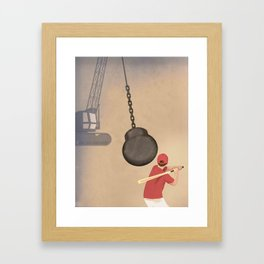 Reality Check: The Hazards of Optimism Framed Art Print