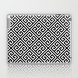 black and white pattern , Greek Key pattern -  Greek fret design Laptop & iPad Skin
