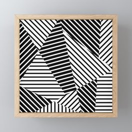 Abstract Striped Triangles Framed Mini Art Print
