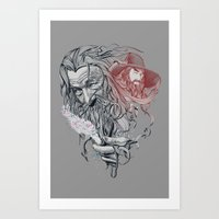 wizard Art Prints featuring Wizard by 2mzdesign