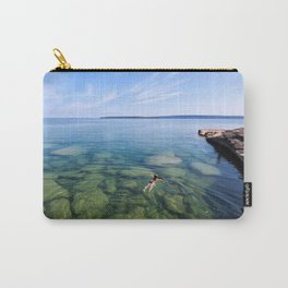 Serenity Swim in Lake Superior Carry-All Pouch