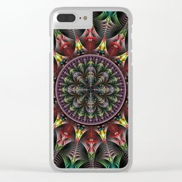 Super Star, fractal abstract Clear iPhone Case