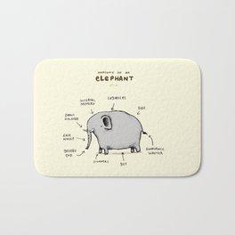 Anatomy of an Elephant Bath Mat