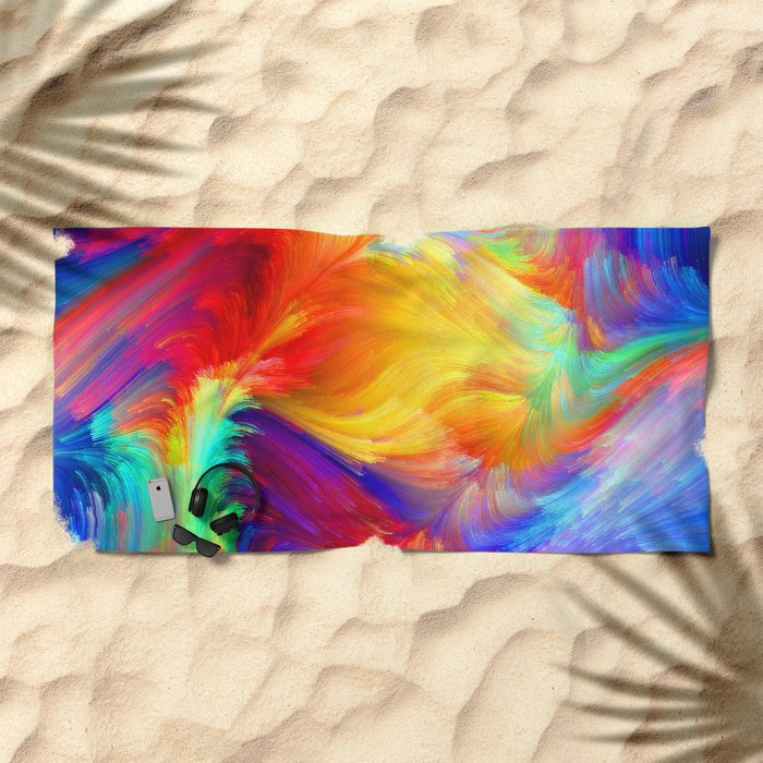 Summer colors Beach Towel