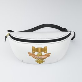 Cleric Hammer, d8 and Lantern Coat of Arms Fanny Pack