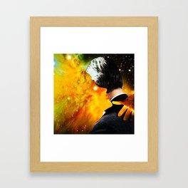 Burning Up Framed Art Print