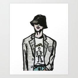 RUN BTS JIN Art Print