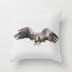 Arctic Eagle Throw Pillow