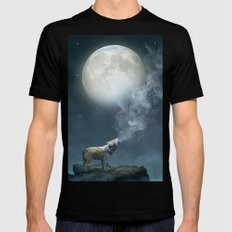 The Light of Starry Dreams Mens Fitted Tee Black MEDIUM