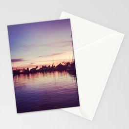 santa barbara harbor sunset  Stationery Cards