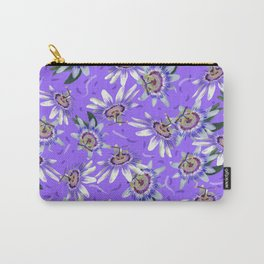 Periwinkle passionflower pattern Carry-All Pouch