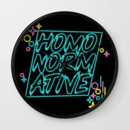 Homonormative Wall Clock