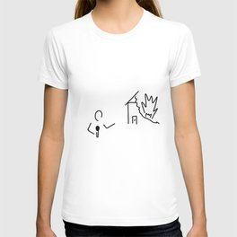 journalist watch TV disaster T-shirt