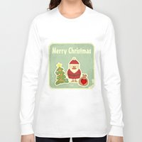merry christmas Long Sleeve T-shirts featuring Merry Christmas by Cs025