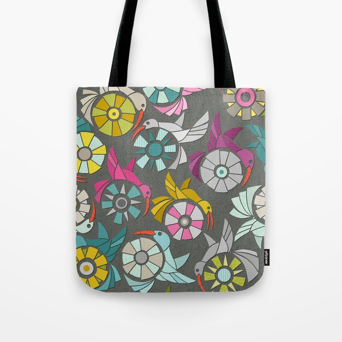 paper sunbirds graphite Tote Bag