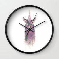 wildlife Wall Clocks featuring Wildlife by Magda Brodziak