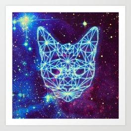 Galactic Kitten Art Print