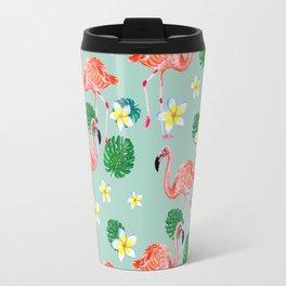 Tropical Flamingo Mood Travel Mug