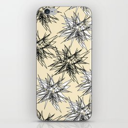 Black and White Squiggles iPhone Skin