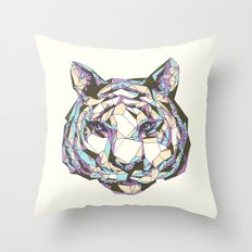 Crystal Tiger Throw Pillow