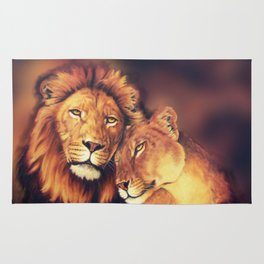 Lions Soulmates Rug