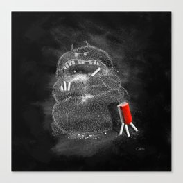 Chalk Monster Canvas Print