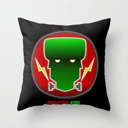 Neon Frankenstein Throw Pillow