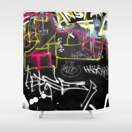 New York Traces - Urban Graffiti Shower Curtain