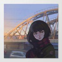 moscow Canvas Prints featuring Moscow by Ilya Kuvshinov