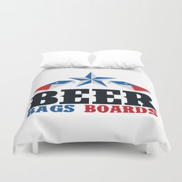 Beer Bags Boards Duvet Cover