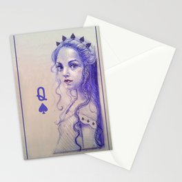 Queen of spades Stationery Cards