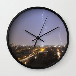 City Lightning. Wall Clock