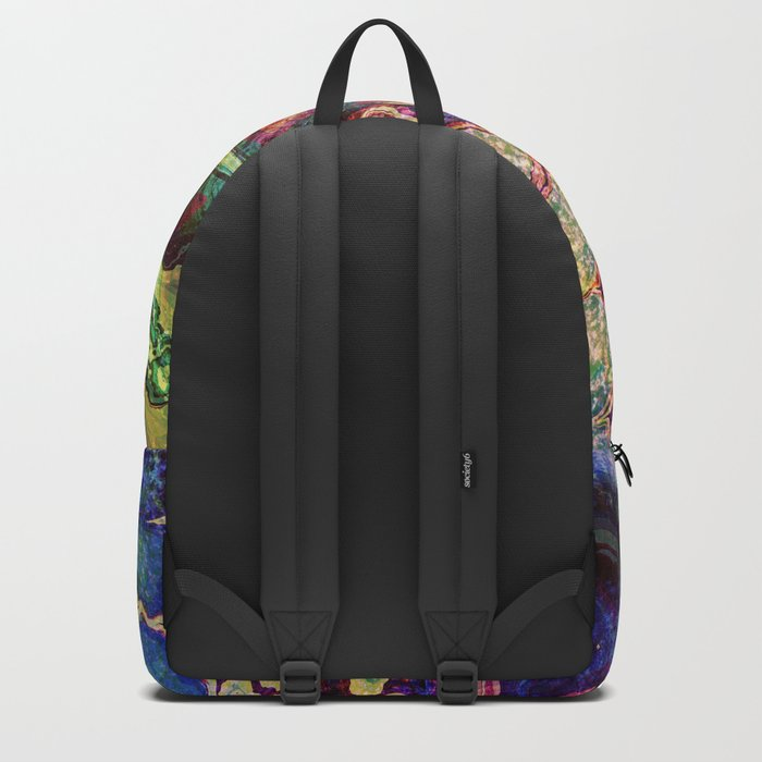 colorful abstract snake skin Backpack